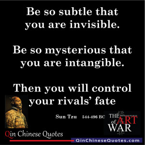Sun Tzu's Art of War on Be So Subtle That You Are Invisible post ...