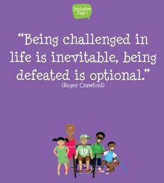Being defeated is optional More