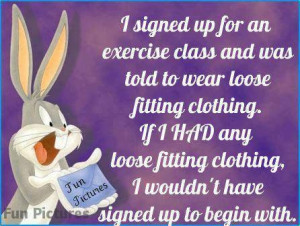 bugs bunny exercise class