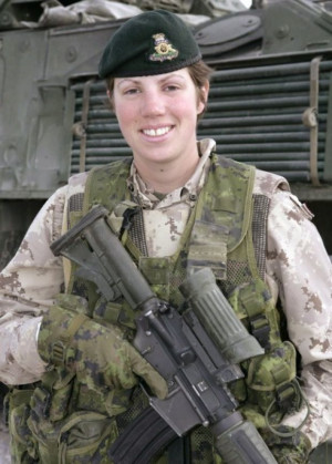 with weapons lol some actual military ones canadian female soldier