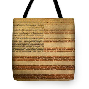 American Tote Bags - Famous Patriotic Quotes American Flag Word Art ...