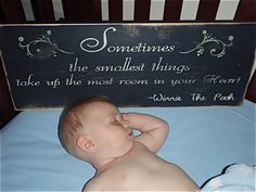 ... quotes on signs, wooden signs, hand painted quotes, baby shower gift
