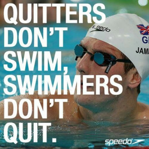 Swim Quotes. I will get a medal some day. I was one place away! I will ...