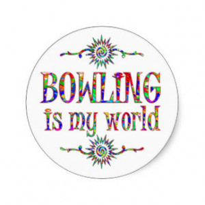 Bowling Sayings Stickers