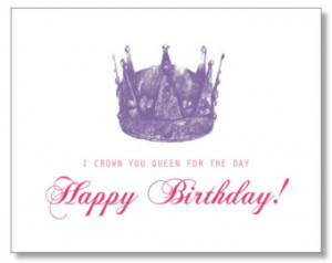 HILARIOUS QUEEN Happy BIRTHDAY card. Hand-drawn, Eco & Handmade. Queen ...