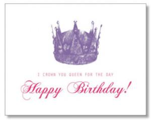 HILARIOUS QUEEN Happy BIRTHDAY card. Hand-drawn, Eco & Handmade. Queen ...