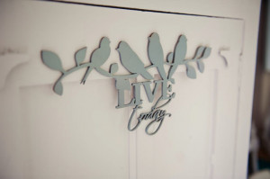 Wood – Wall Decor Birds on Branch with quote