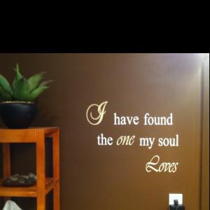 Cricut quote on master bath wall