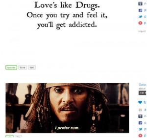 rum johnny depp pirates of the caribbean quotes love