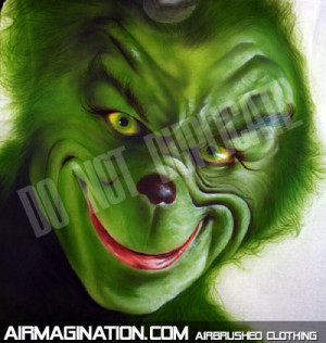 Airbrushed Grinch shirt | The Grinch Who Stole Christmas t-shirts
