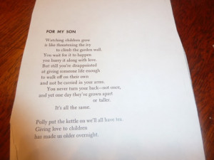 This next one is a blast from my past: Rod McKuen whose poetry I loved ...
