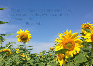 Helen Keller. She had some wonderful quotes.