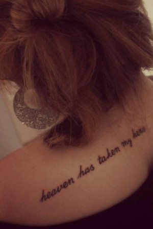 Lost loved one tattoo quote