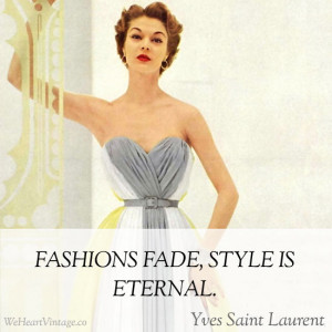 Quote On Vintage Fashion
