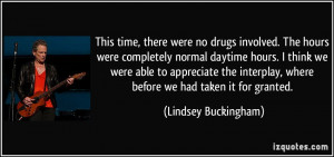 This time, there were no drugs involved. The hours were completely ...