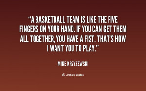 Quotes About Basketball Team