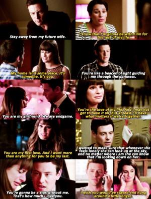 Finn Hudson And Rachel Berry Quotes