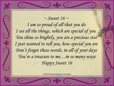 sweet sixteen birthday quotes google search more 16 birthday birthday ...