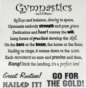 Things You Need For Gymnastics | want2scrap.com