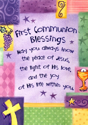 first communion blessing pictures | First Communion Blessings Greeting ...