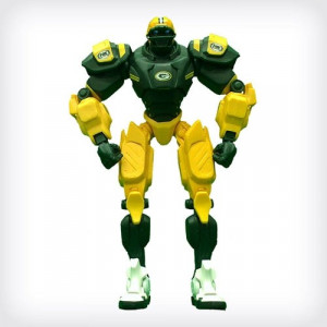 ... : NFL FOX MASCOT ROBOT CLEATUS FIGURE Green Bay Packers VERSION 2