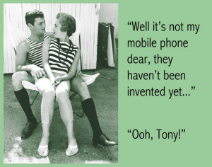 Not My Mobile Phone - Tony Curtis Funny Vintage Poster Humor
