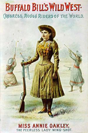 annie oakley wild west poster