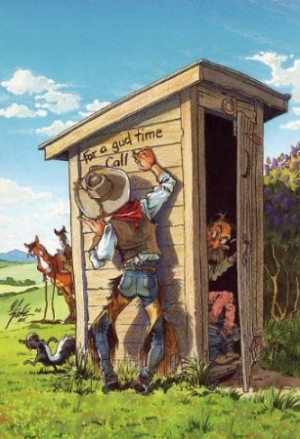 Nature Calls - Outhouse humor
