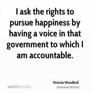 Victoria Woodhull Happiness Quotes