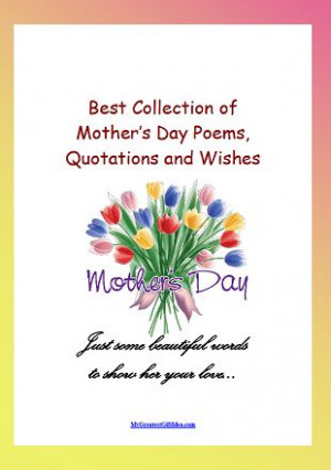 Mothers Day Poems Gifts Quotes
