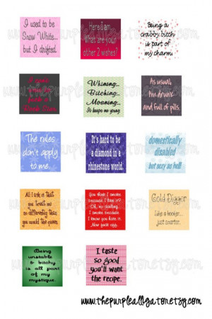 Sassy Bitchy Naughty Attitude-Filled Quotes Scrabble Tile 3\/4 inch ...