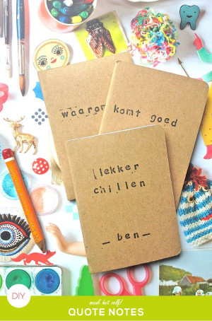 my quote notes #diy #paper #craft