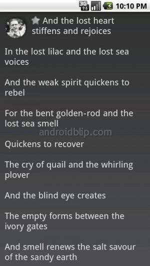 eliot poetry