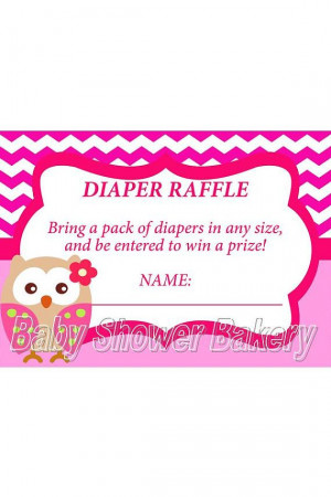 baby shower game ideas for girlOwl Diaper Raffle Ticket Instant ...