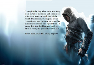 Assassins Creed Quotes Altair Altair s Codex alone has some