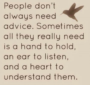 Sometimes we need to just stop & LISTEN.