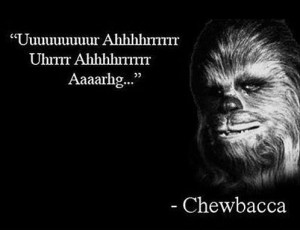 Chewbacca's inspirational quote