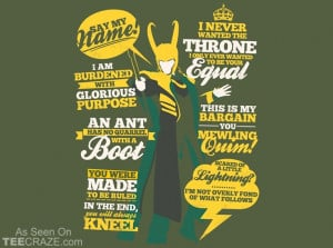 Quotes Of A Mischief God T-Shirt