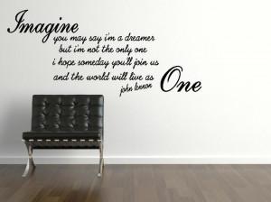 John Lennon Imagine Wall Sticker