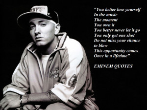 True Eminem Quotes Sayings for Haters