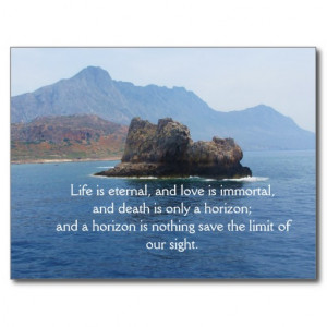 Inspirational Grieving Quote for Healing Postcards