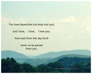 Jane Austen Quote, Love, Landscape Photograph, typography