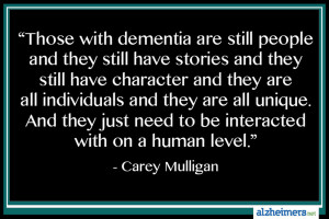 Carey Mulligan Dementia Quote
