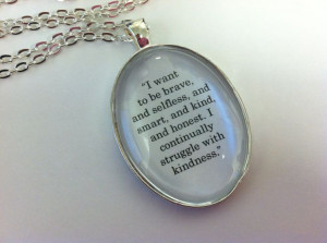 Divergent Inspired Four's Faction Tattoo explanation quote necklace