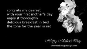 short messages 1st mother's day baby