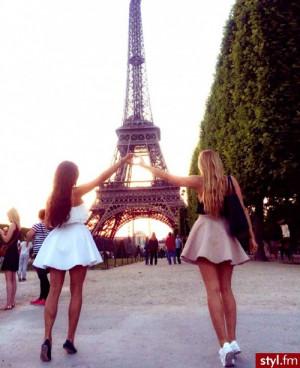cute dress eiffel tower fashion girl love paris summer