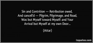 Sin and Contrition — Retribution owed, And cancell'd — Pilgrim ...