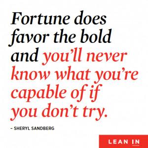 Sheryl Sandberg Lean In Quotes Sheryl sandberg launches lean
