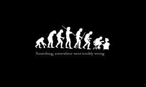 Evolution funny wallpaper