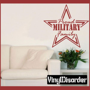 Military Family Star Patriotic Vinyl Wall Decal Sticker Mural Quotes ...